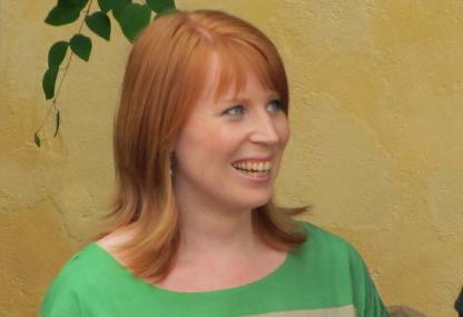 Centerledaren Annie Lööf i Almedalen 2012
