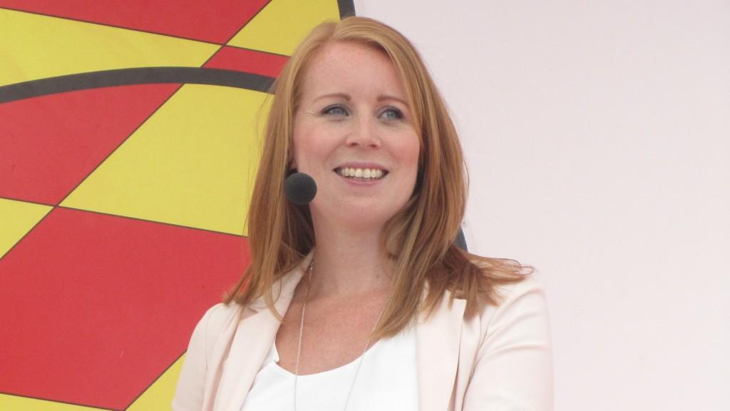 Annie Lööf gjorde ett avspänt intryck när hon intervjuades av Expressens Niklas Svensson.