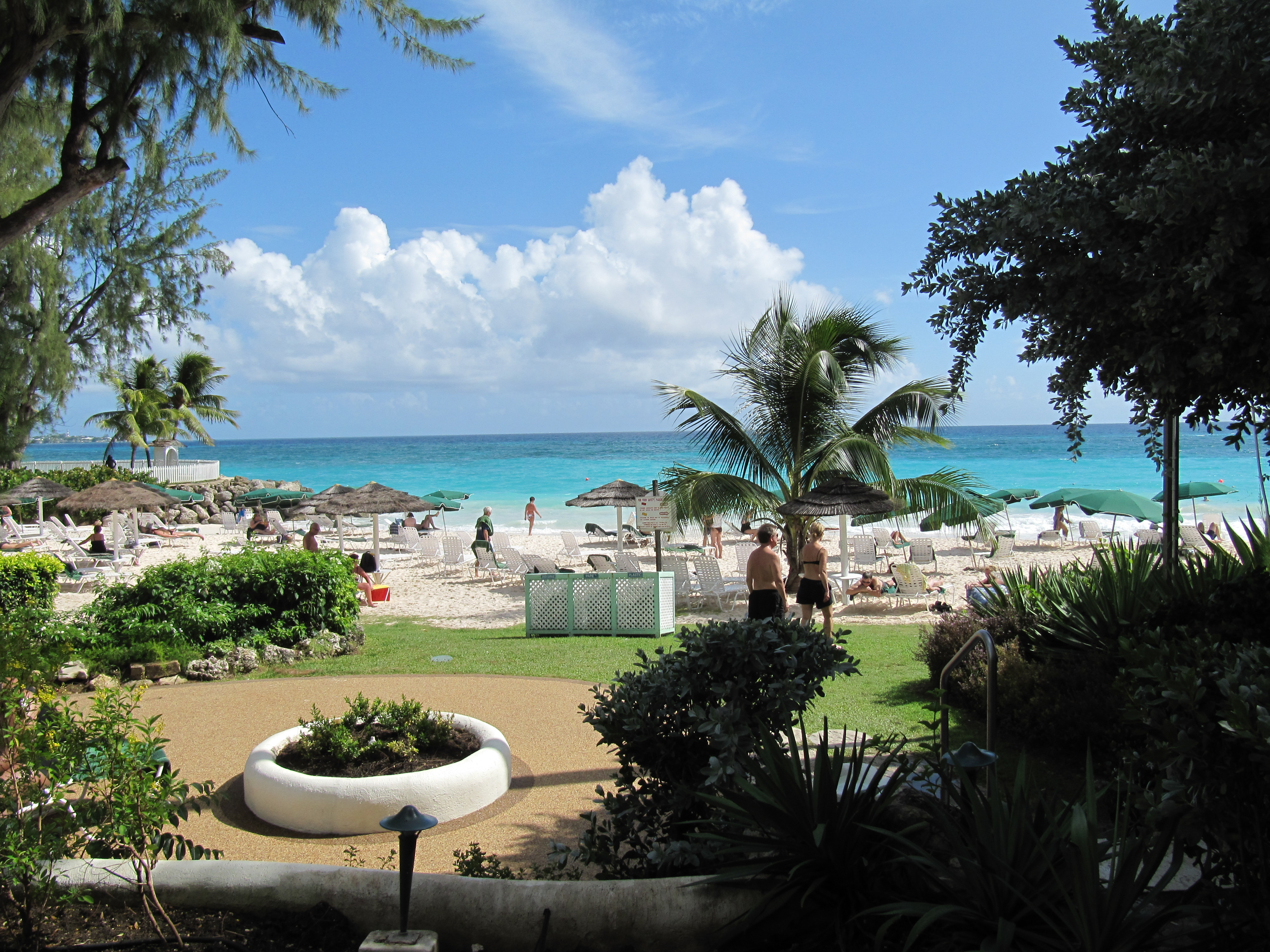 Hotellbadstrand på Barbados