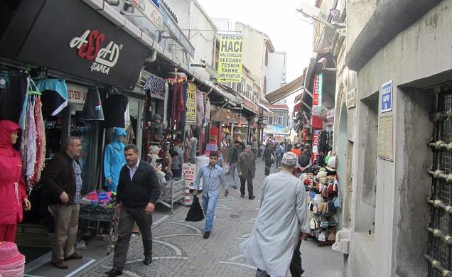 Gata med affärer i Istanbul