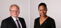 Försvarsminster Hultqvist och kulturminister Bah Kuhnke. Foto: Sören Andersson/Regeringskansliet