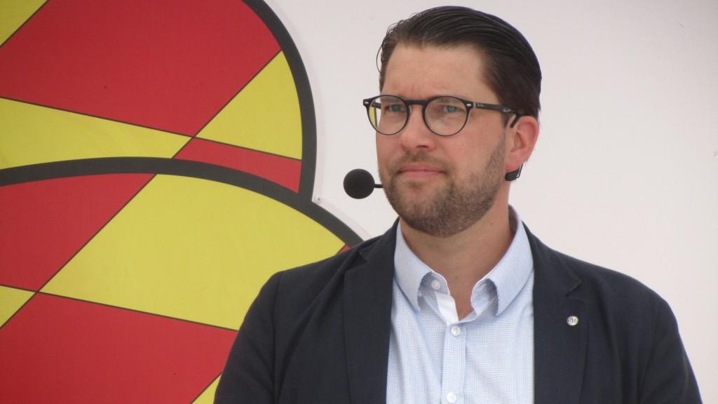 Sverigedemokraternas Jimmie Åkesson.