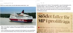 Två exempel på när läsare ifrågasätter medias objektivitet och oberoende.