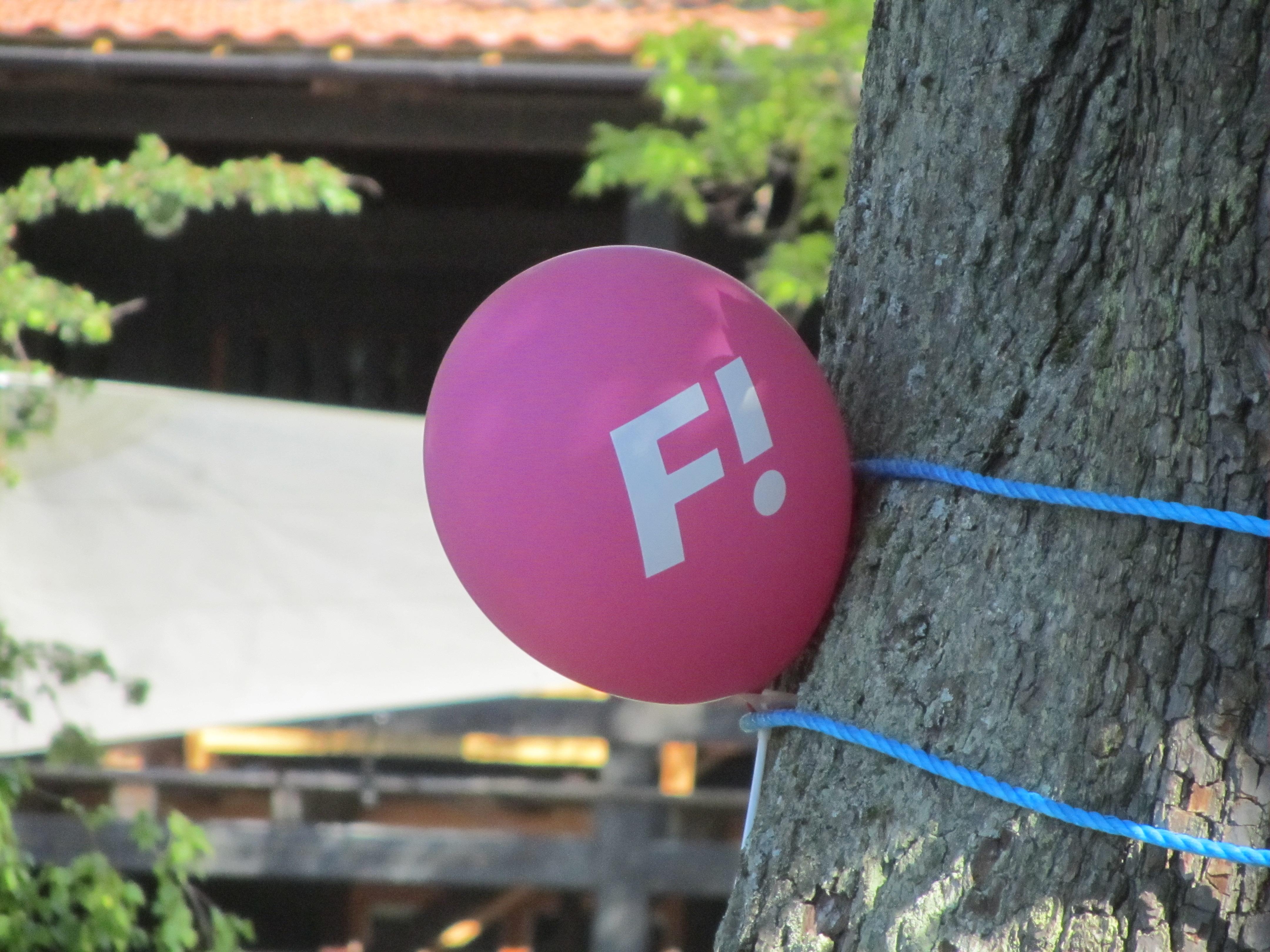 Ballong från Fi - Feministiskt initativ